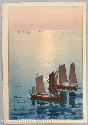 吉田博: Sailing Boats on the Sea - Artelino