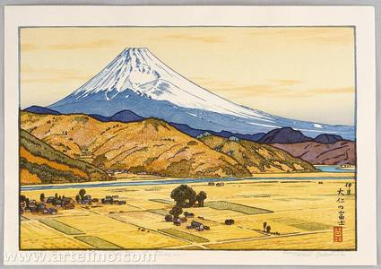 吉田遠志: Mt. Fuji from Ohito - Autumn - Artelino