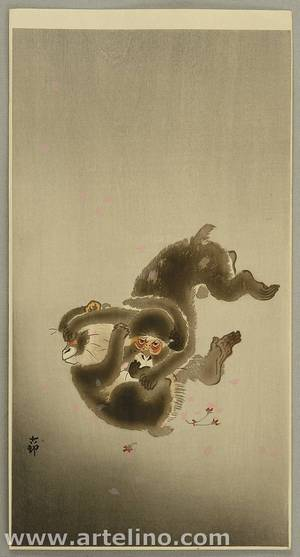 Ohara Koson: Playing Monkeys - Artelino