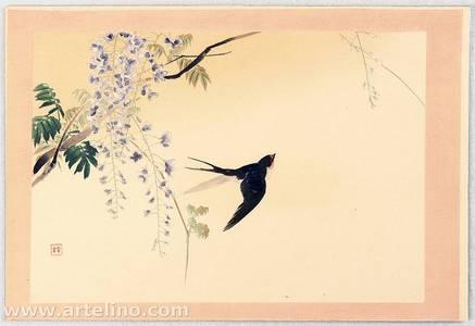 梶田半古: Twelve Months of Japan, Birds and Plants - Swallow and Wisteria - Artelino