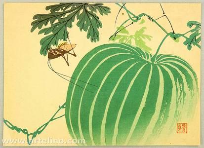 Unknown: Grasshopper and Watermelon - Artelino