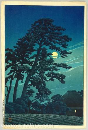 川瀬巴水: Moon at Umagome - Twenty Views of Tokyo - Artelino