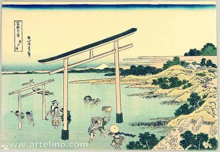 Katsushika Hokusai: Nobotoura Bay - Thirty-six Views of Mt.Fuji - Artelino