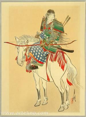 尾形月耕: Tomoe, the Female Warrior - Artelino