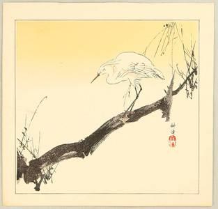 Tsukioka Kogyo: Egret on a Branch - Artelino