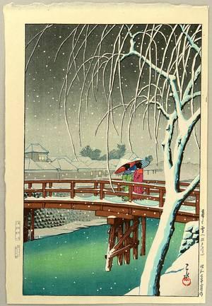 川瀬巴水: Edo River - Artelino