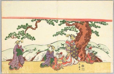 Katsukawa Shunsen: Beauty and Pine - Artelino