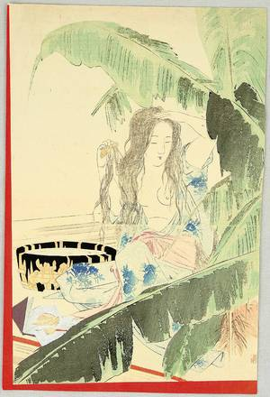 Takeuchi Keishu: Beauty and Banana Tree - Artelino