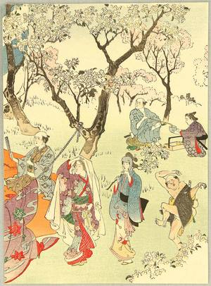 Tomioka Eisen: Cherry Blossoms Viewing Party. - Artelino