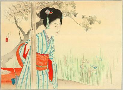Mizuno Toshikata: Iris Garden - Artelino