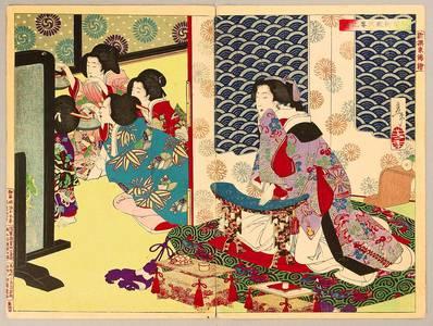 Tsukioka Yoshitoshi: Drinking Party at Kioshida Palace - Artelino
