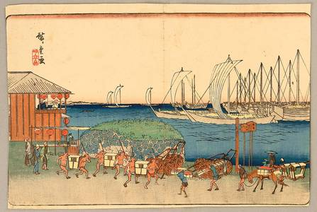 Utagawa Hiroshige: Famous views of Edo - Takanawa - Artelino