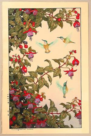 Yoshida Toshi: Hummingbirds and Fuchsia - Artelino