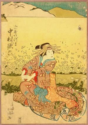 Inoue Hokucho: Beauty and Butterfly - Artelino