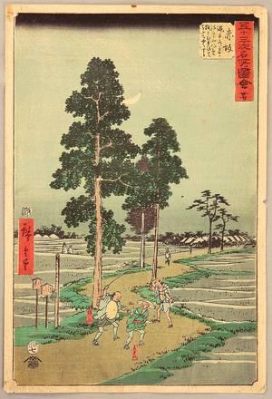 歌川広重: Akasaka - Upright Tokaido - Artelino