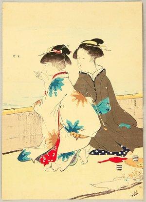 Kaburagi Kiyokata: At the Shore - Artelino