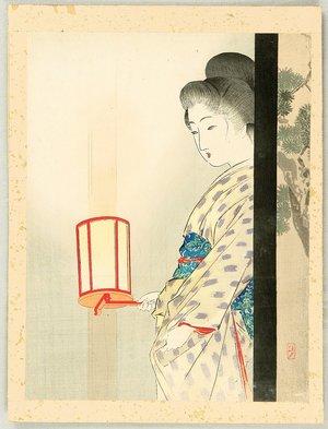 武内桂舟: Beauty with Lantern - Artelino