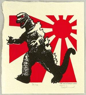 Tom Kristensen: Godzilla and Imperial Flag - Artelino