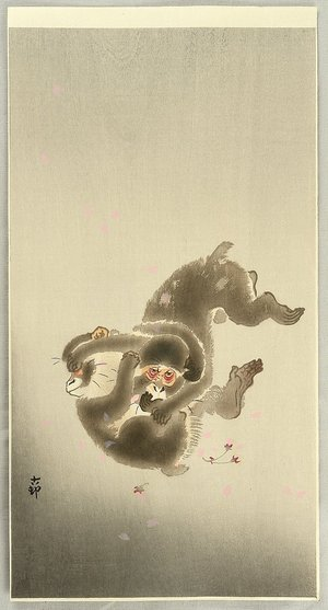 小原古邨: Fighting Monkeys - Artelino