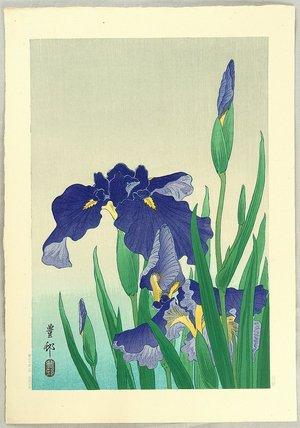 Ohara Koson: Flowering Iris - Artelino