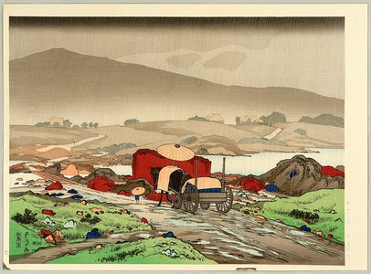 Hashiguchi Goyo: Rain at Tabakei - Artelino