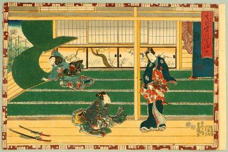 Utagawa Kunisada: The Tale of Genji - Gust of Wind - Artelino