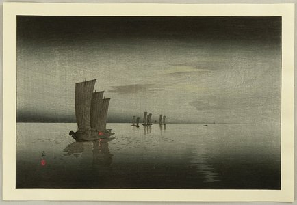 小原古邨: Fishing Boats - Artelino