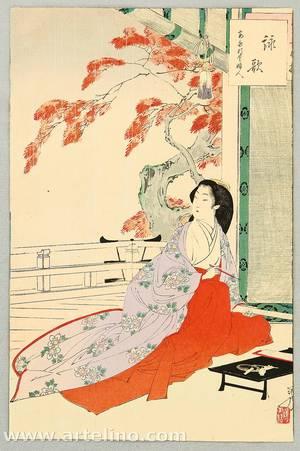 Mizuno Toshikata: Thirty-six Selected Beauties - Rain - Artelino
