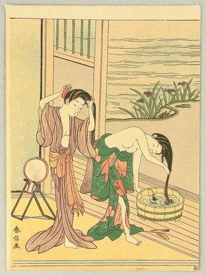Suzuki Harunobu: Washing Hairs - Artelino