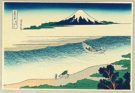葛飾北斎: Fugaku Sanju-rokkei - Tama River - Artelino