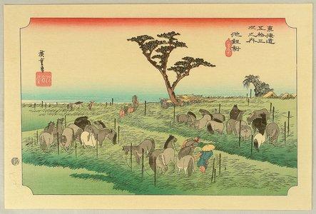 Utagawa Hiroshige: Fifty-three Stations of the Tokaido (Hoeido) - Chiryu - Artelino