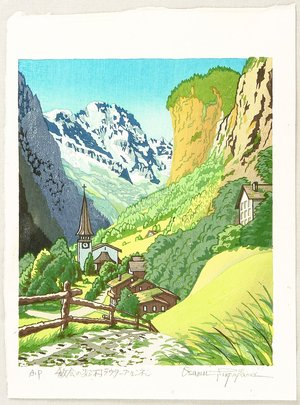 両角修: Village with a Church - Switzerland - Artelino