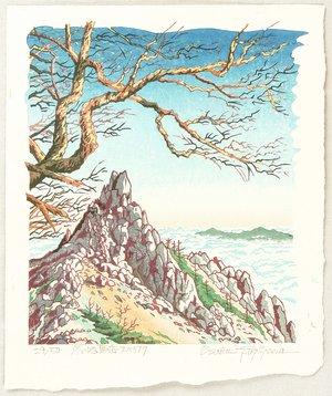 両角修: Obelisk of Mt. Jizo in Winter - Japan - Artelino