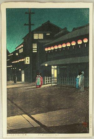 川瀬巴水: Soemoncho District in Osaka - Artelino