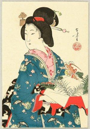 Mizuno Toshikata: Beauty and New Year's Decoration - Artelino