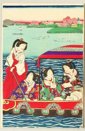 守川周重: Meiji Empress on Sumida River - Artelino