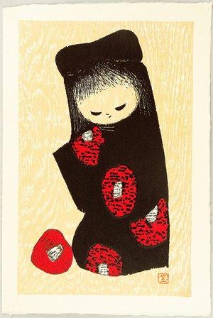 河野薫: Girl and Red Camellia - Artelino