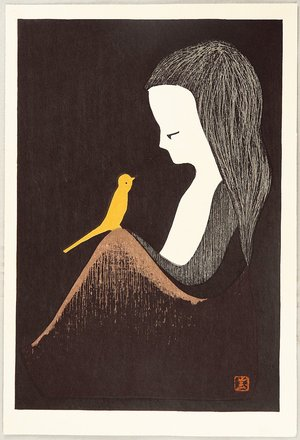 河野薫: Girl and Yellow Bird - Artelino