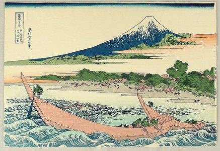Katsushika Hokusai: Thirty-six Views of Mt.Fuji - Ushibori - Artelino