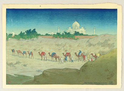 Bartlett William Charles: Taj Mahal From the Desert - Artelino