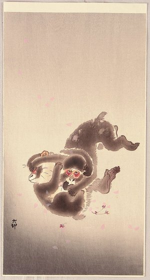 Ohara Koson: Fighting Monkeys - Artelino