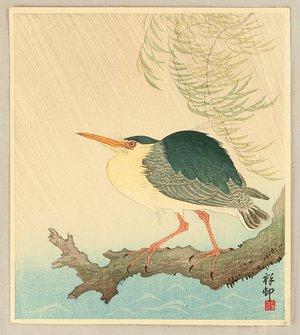 Ohara Koson: Heron in the Storm - Artelino