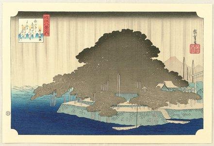 歌川広重: Night Rain - Omi Hakkei no Uchi - Artelino