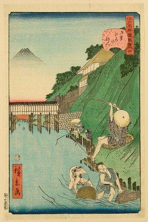歌川広景: Humorous Scenes at the Famous Places of Edo - No. 4 - Artelino