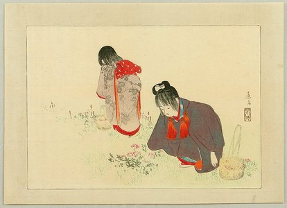 富岡英泉: Picking Flowers - Artelino