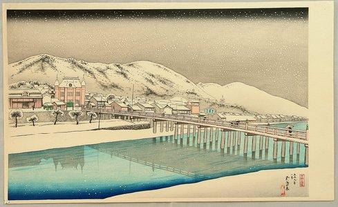 橋口五葉: Sanjo Bridge, Kyoto - Artelino
