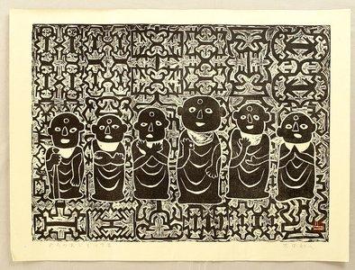 無款: Six Jizo Buddha - Artelino