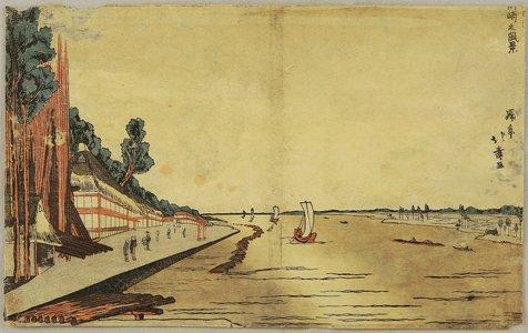Shotei Hokuju: Scenery at Okazaki - Artelino
