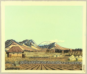 Hiratsuka Unichi: Mt. Asama in the Early Spring - Artelino