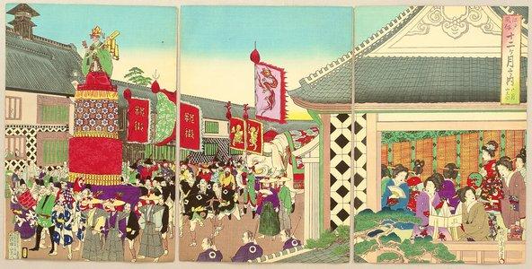 Toyohara Chikanobu: Customs and Manners of Edo 12 Months - June - Artelino